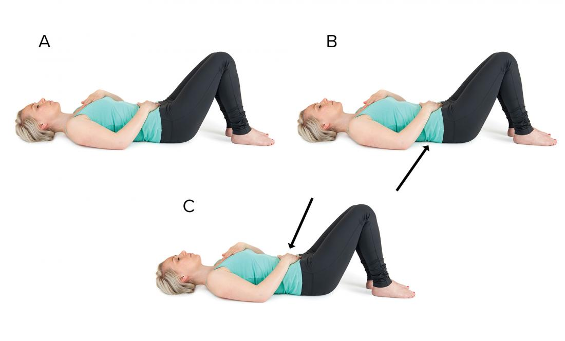 Draw-in maneuver abdominal exercise