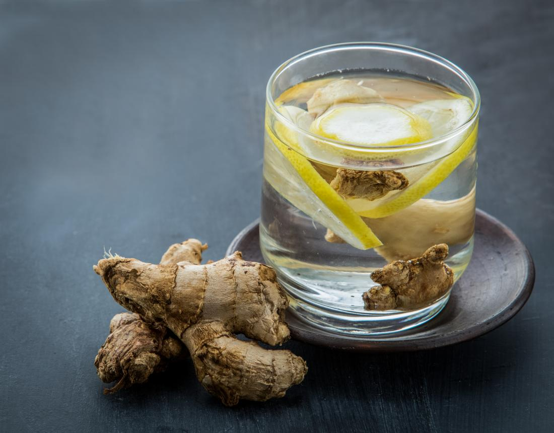 Ginger and lemon water