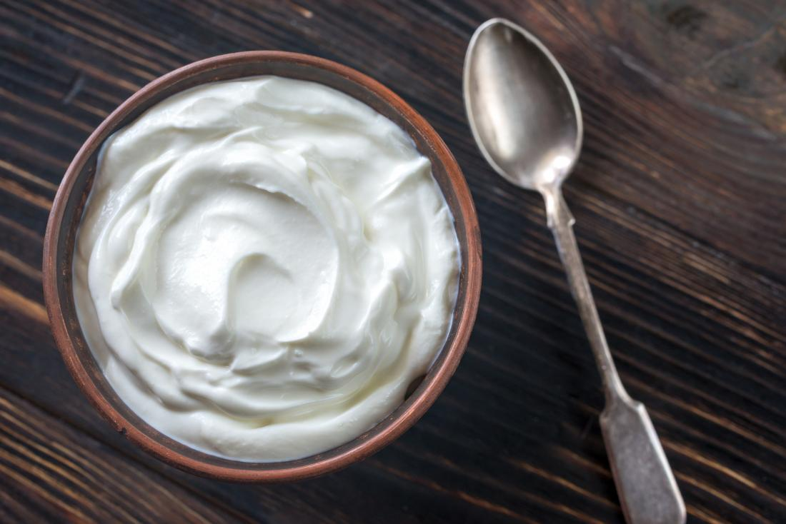 Greek yoghurt in bowl