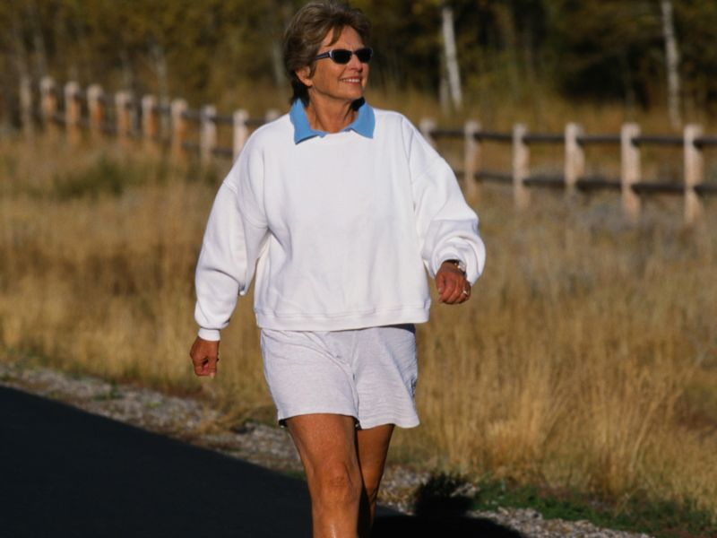 News Picture: Just 6 Months of Walking May Boost Aging Brains
