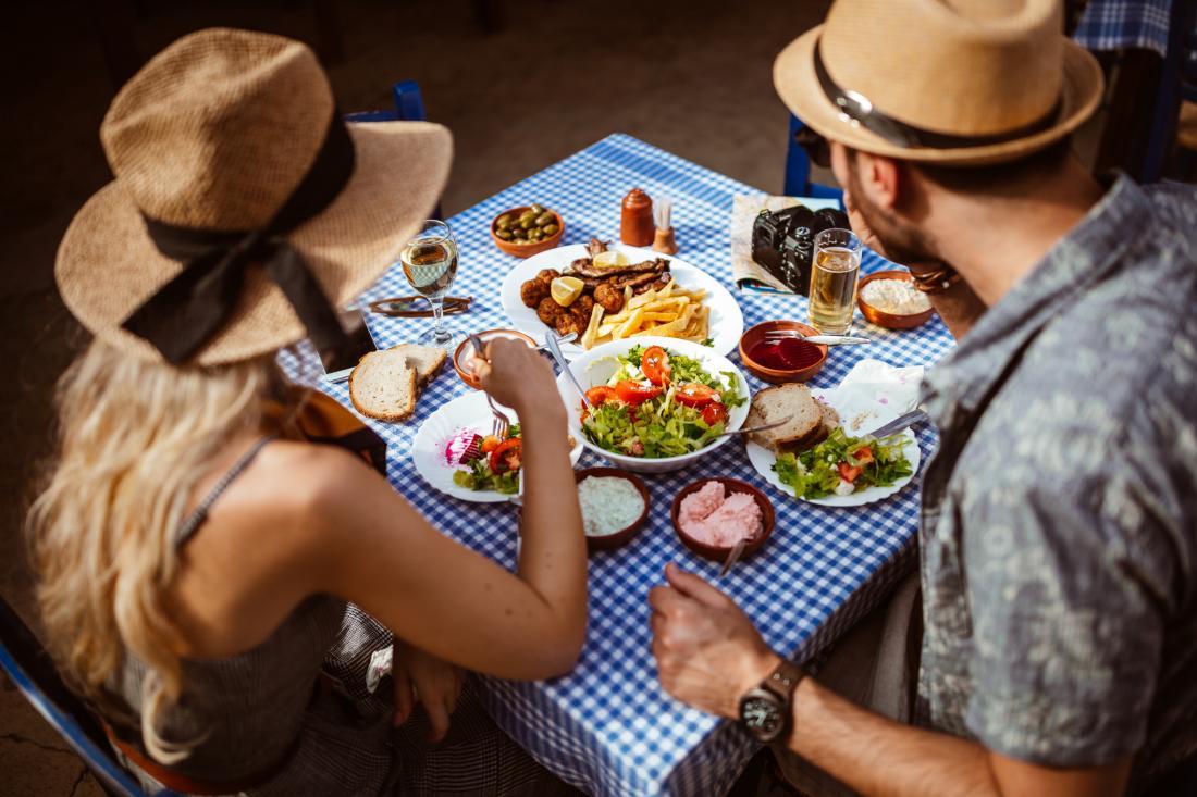 Mediterranean diet couple dinner