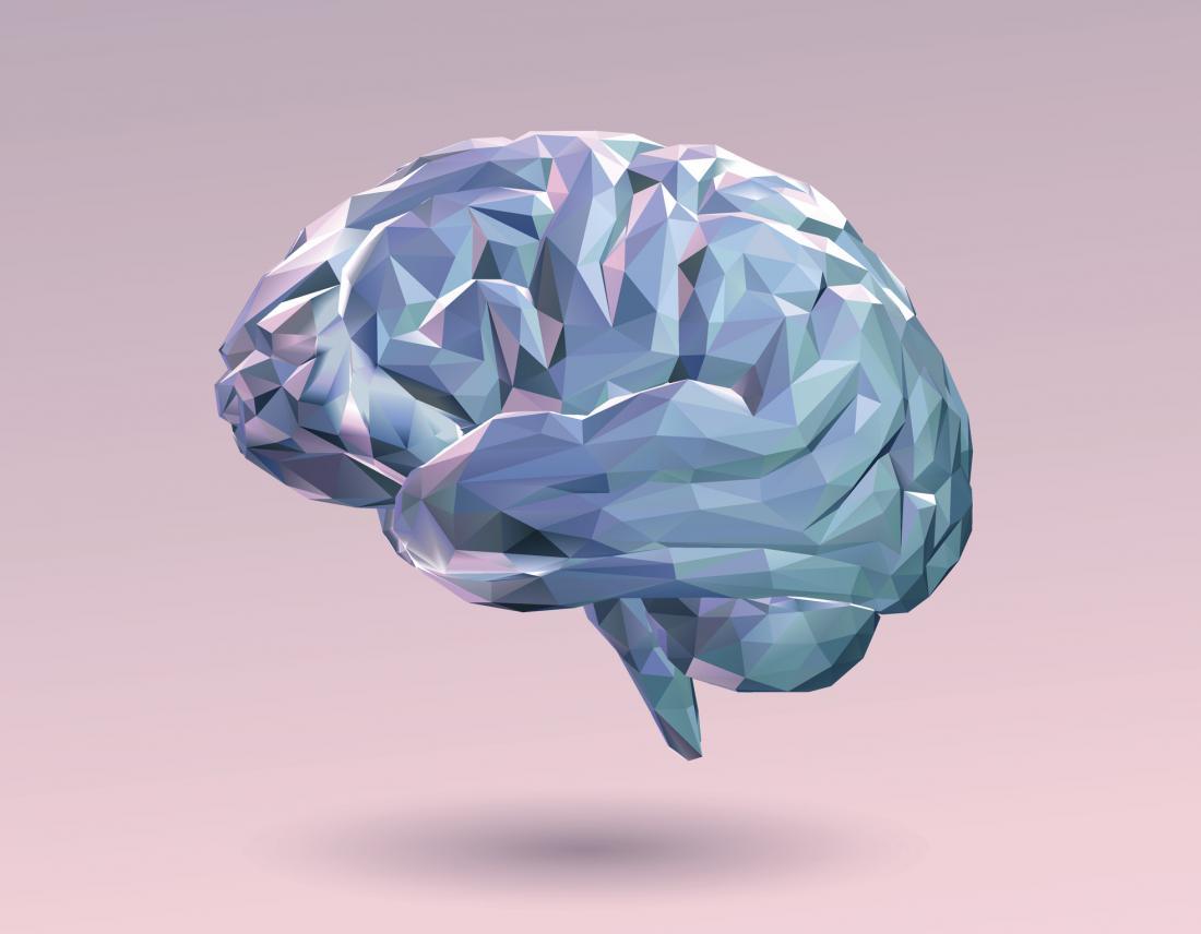 brain illustration on pink background