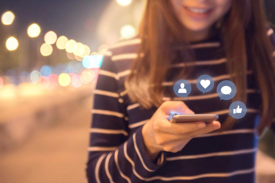 Social media at night