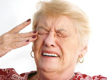 Older lady with eye pain