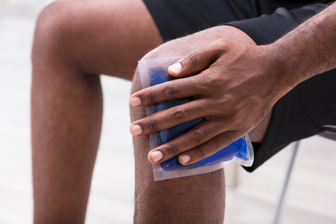 Rheumatoid arthritis swelling ice pack