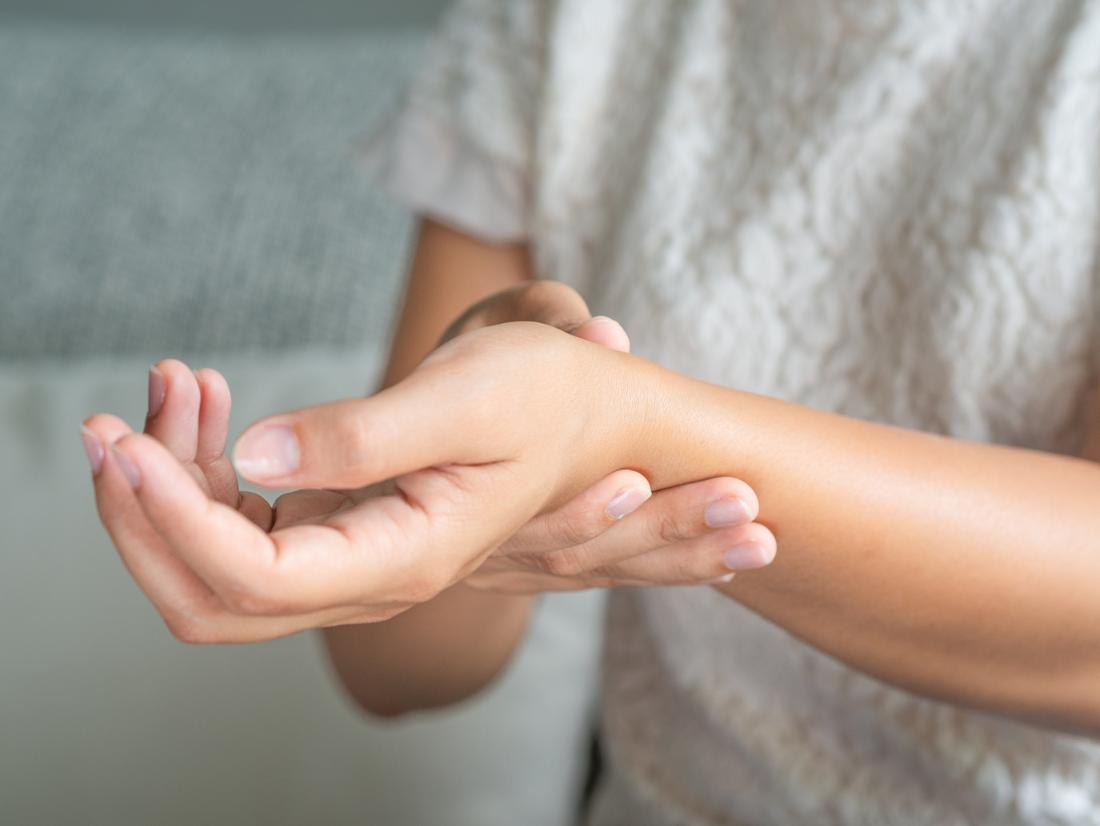 Rheumatoid arthritis swelling wrist