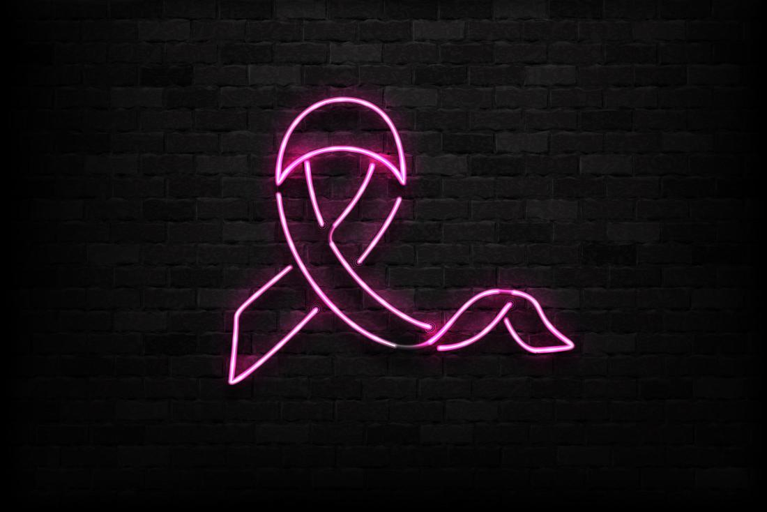breast cancer neon sign