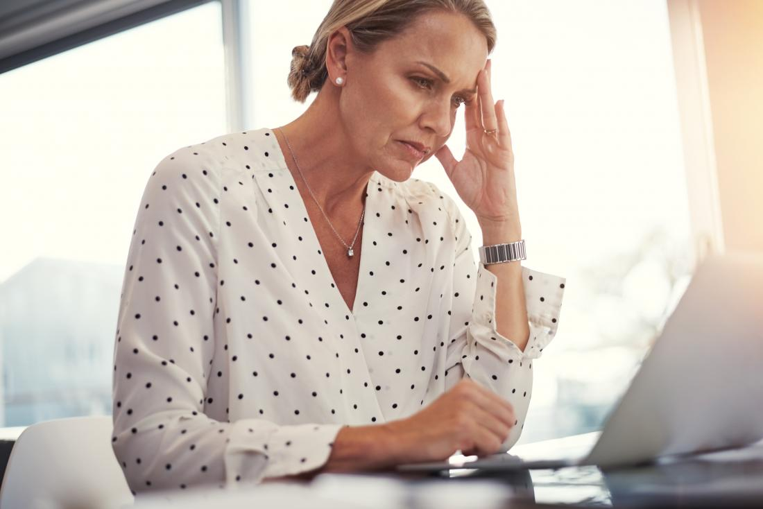 Woman drowsy at work due to taking sleeping pills