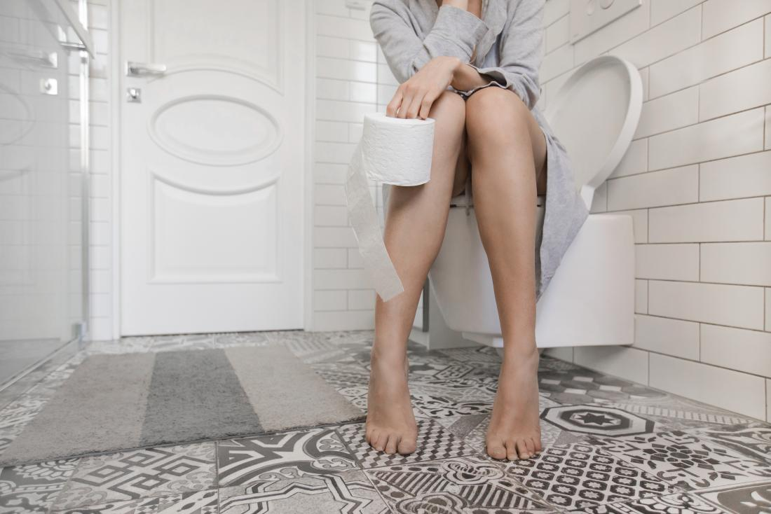 blood in the stool and stringy poop