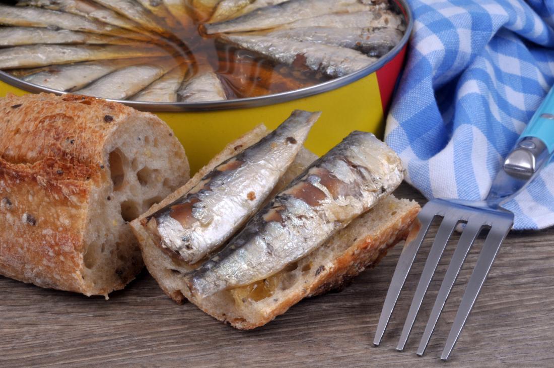 Pescatarian diet sardines on crosti