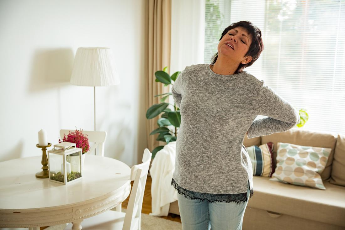 mature woman with lower back pain