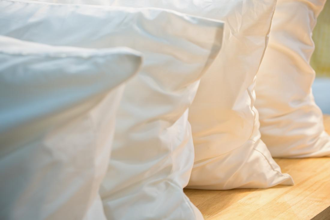 Line of pillows