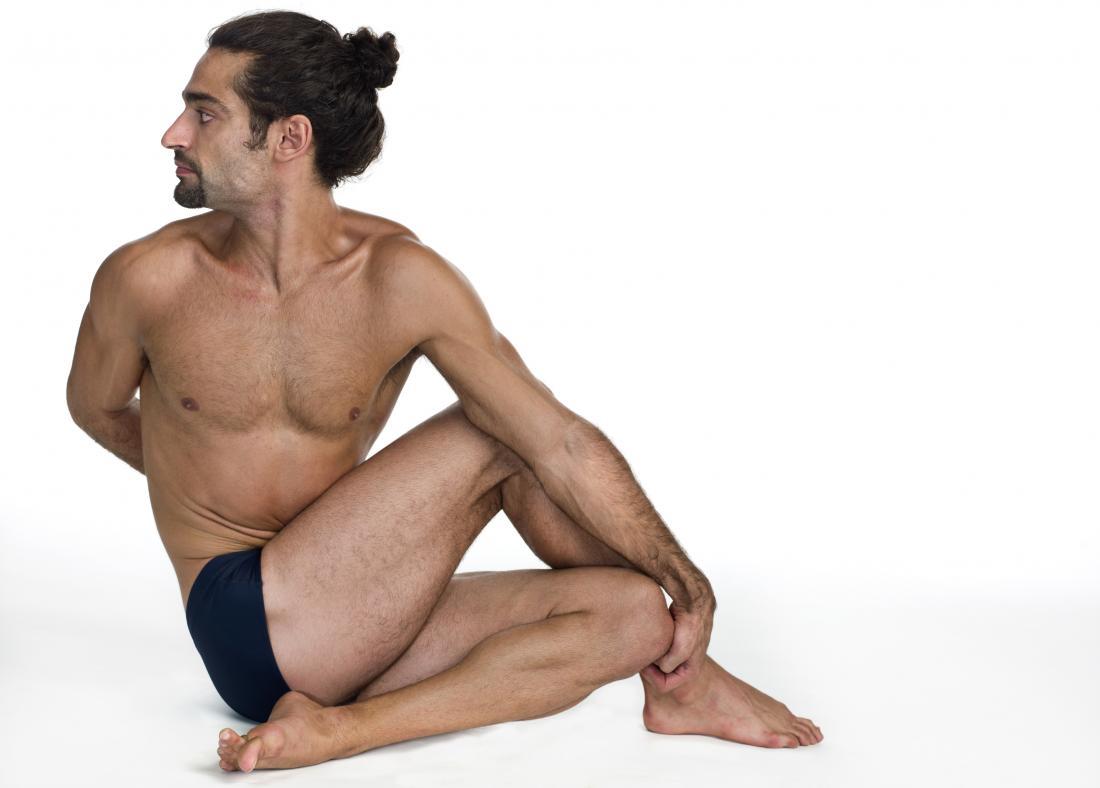 Yoga for erectile dysfunction. Ardha Matsyendrasana position