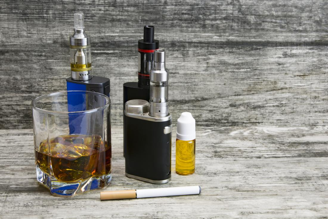 alcohol and electronic cigarettes