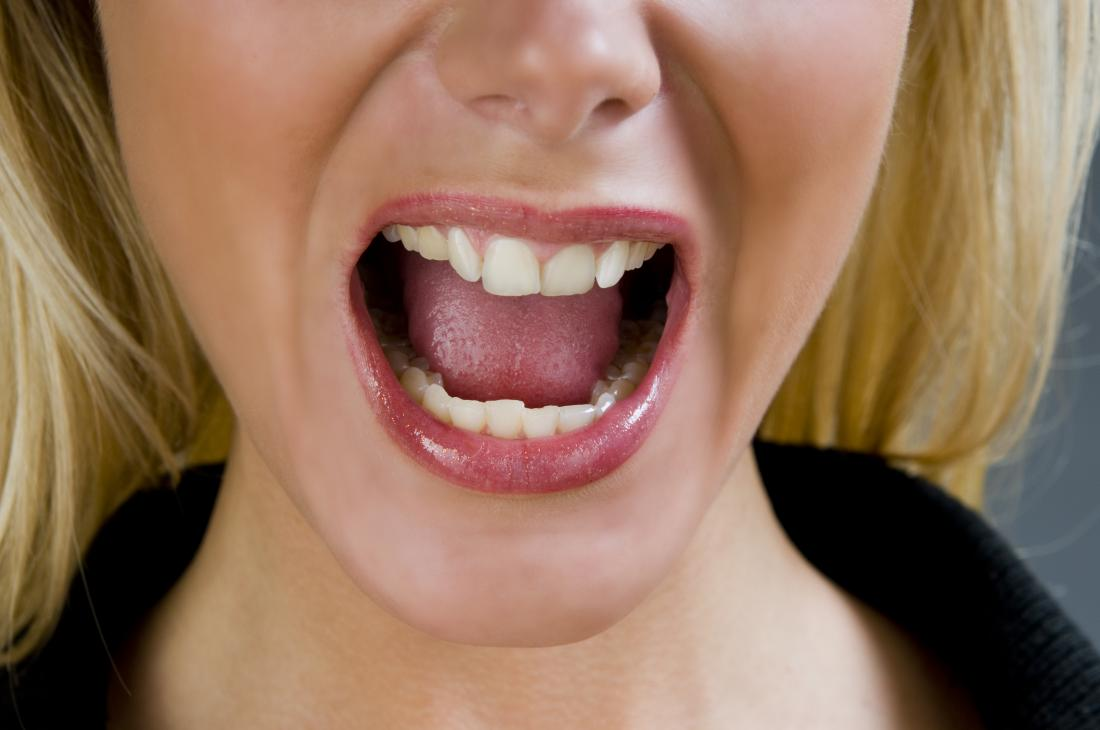 Womans mouth and tongue