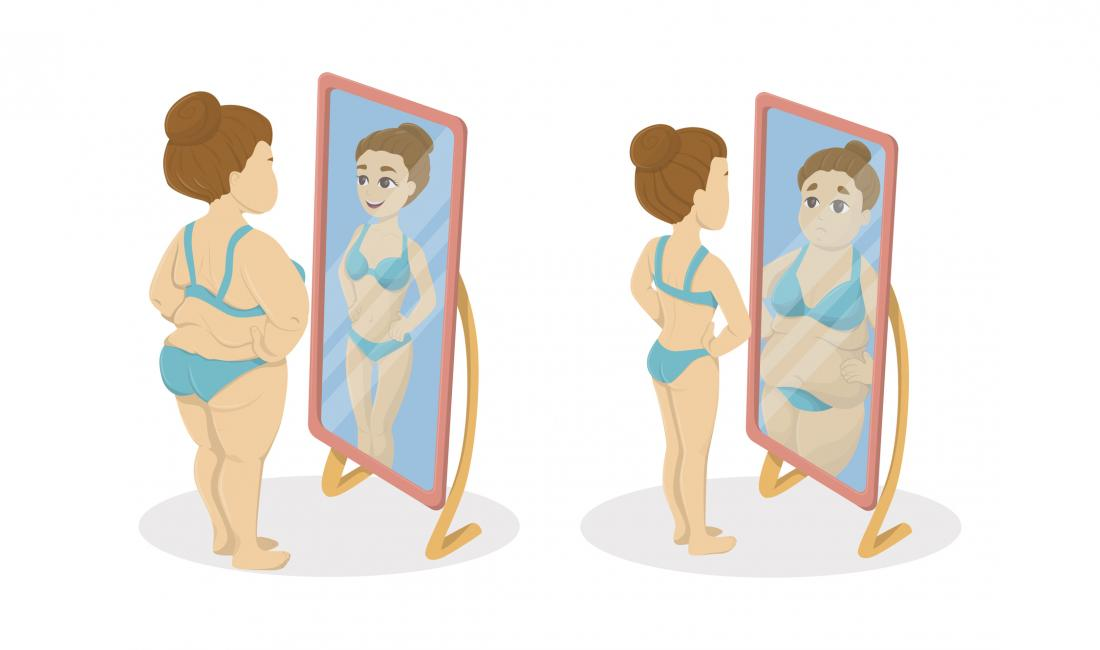 two women with distorted body image perceptions