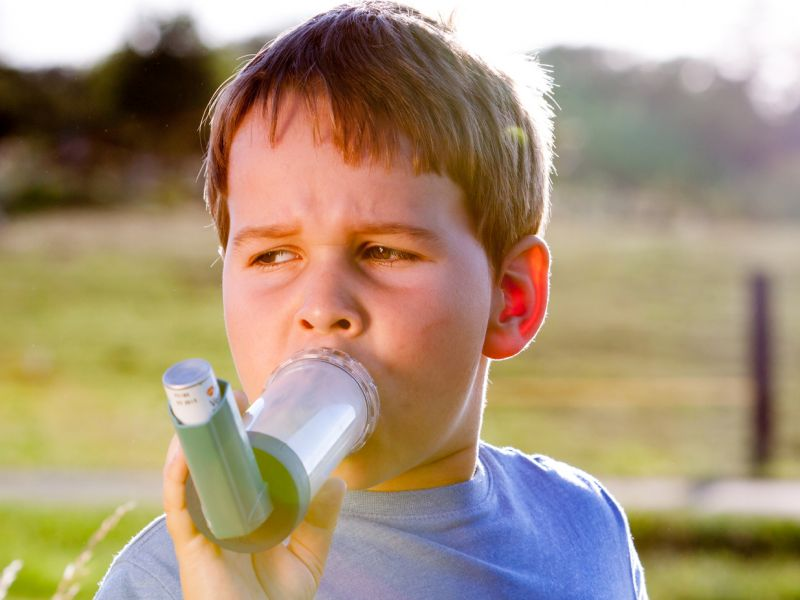 News Picture: Add Asthma to List of Possible Causes of Childhood Obesity