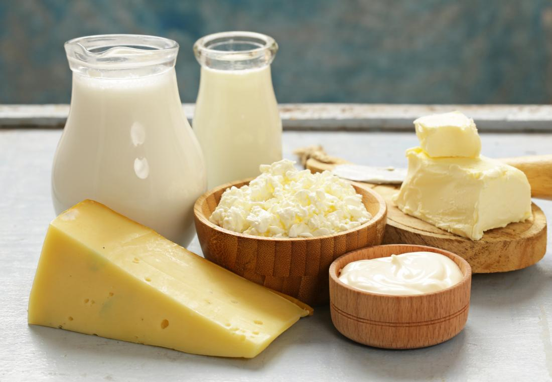 various dairy products to avoid on ibs diet including cheese milk cream and butter