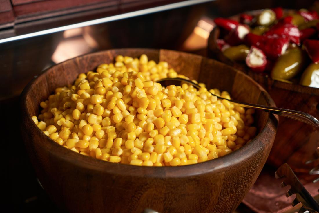 Sweet corn in bowl