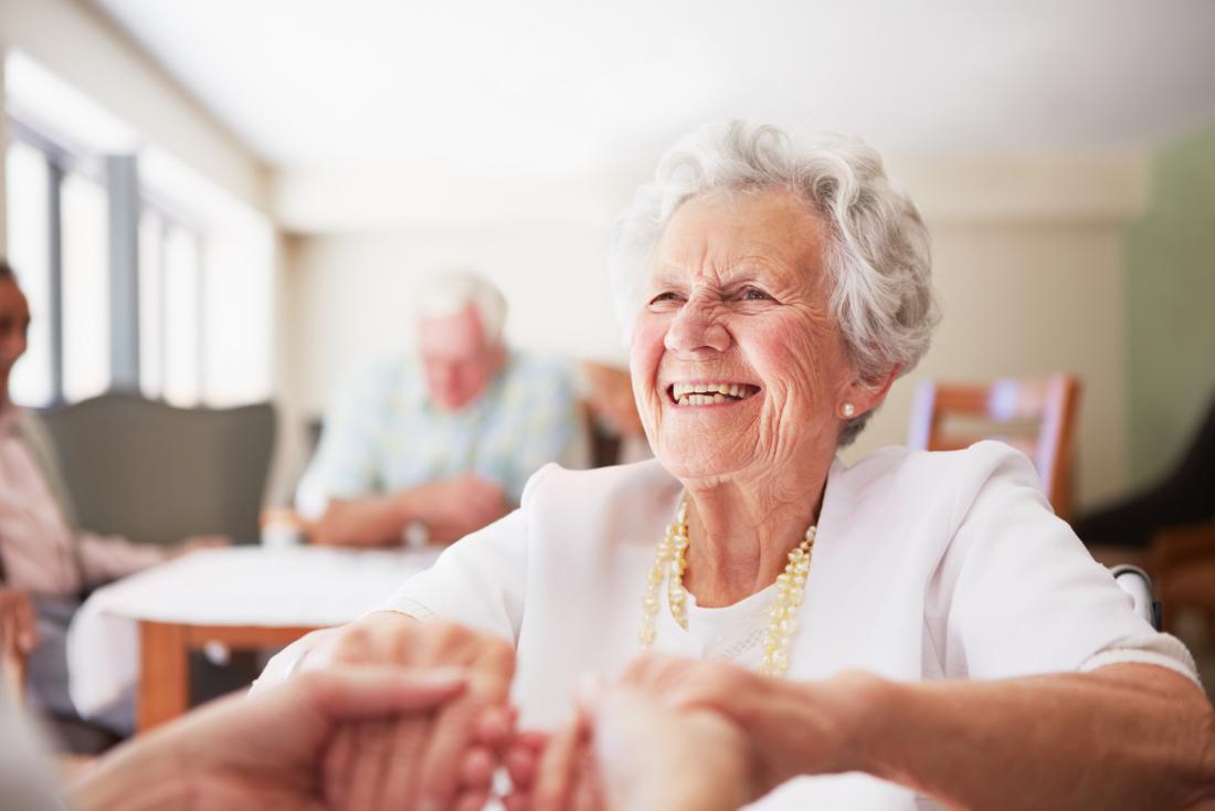 Happy older adult