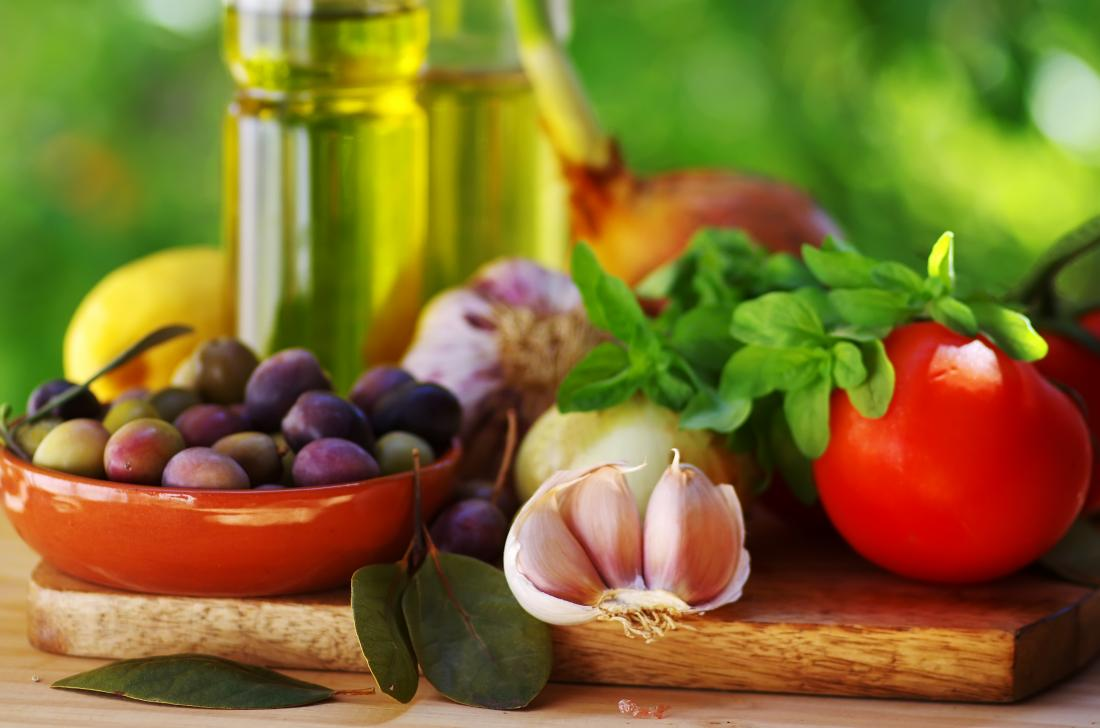Foods from a Mediterranean diet