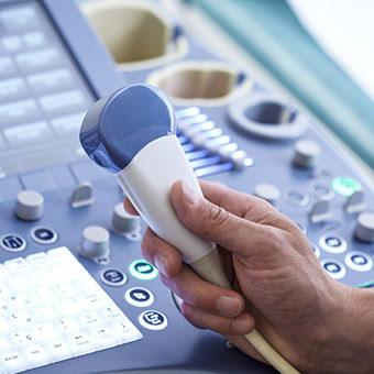 An ultrasound machine and wand.