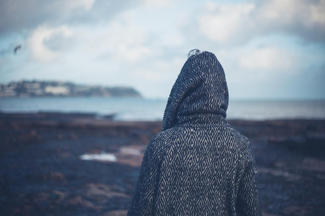 person on the seafront