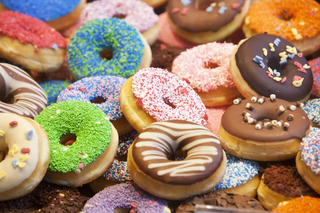 Image of colourful donuts