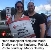 News Picture: AHA News: Heart Transplant Survivor Gets Wedding Proposal at Finish Line