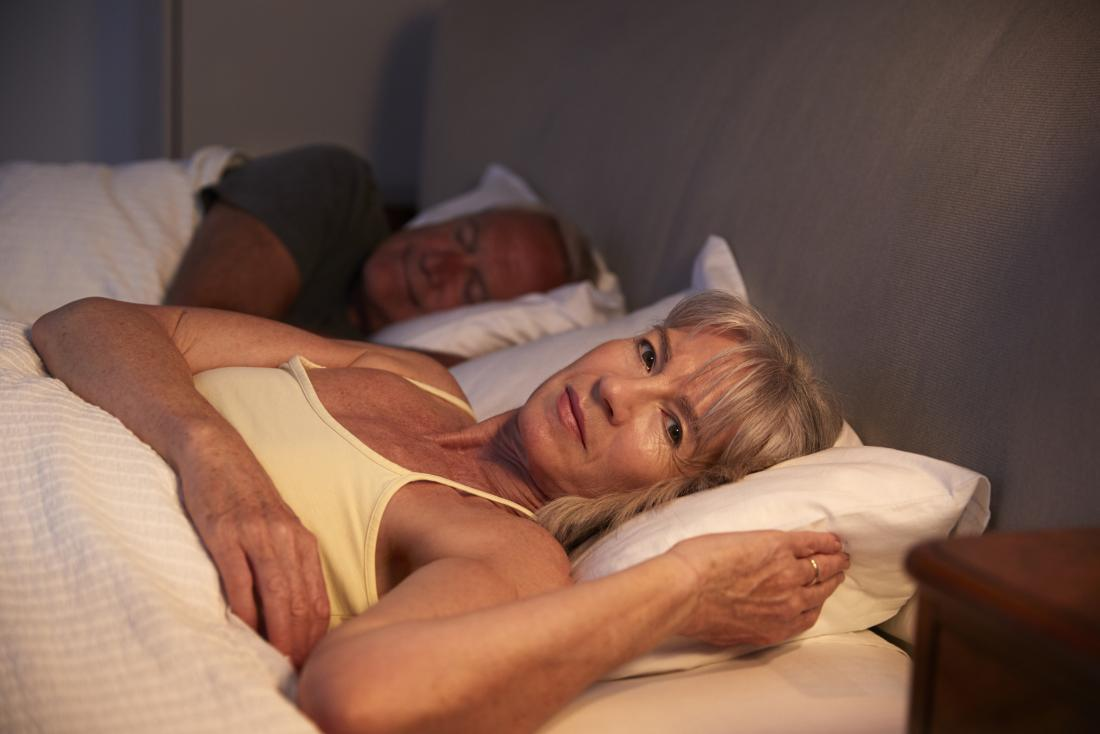 menopausal lady suffering from insomnia