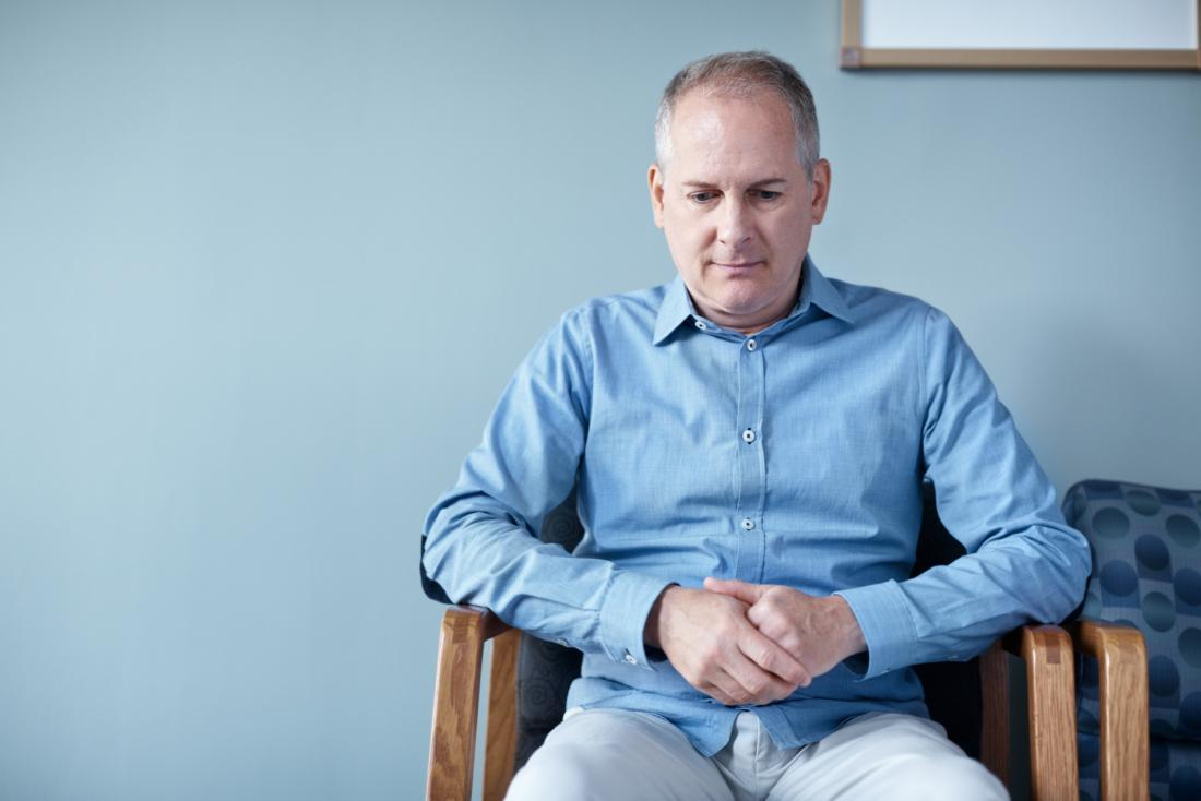 Man sat in a waiting room waiting for his penile cancer diagnosis