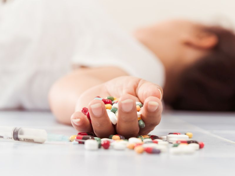 News Picture: Opioid Overdose Deaths Quadruple, Centered in 8 States