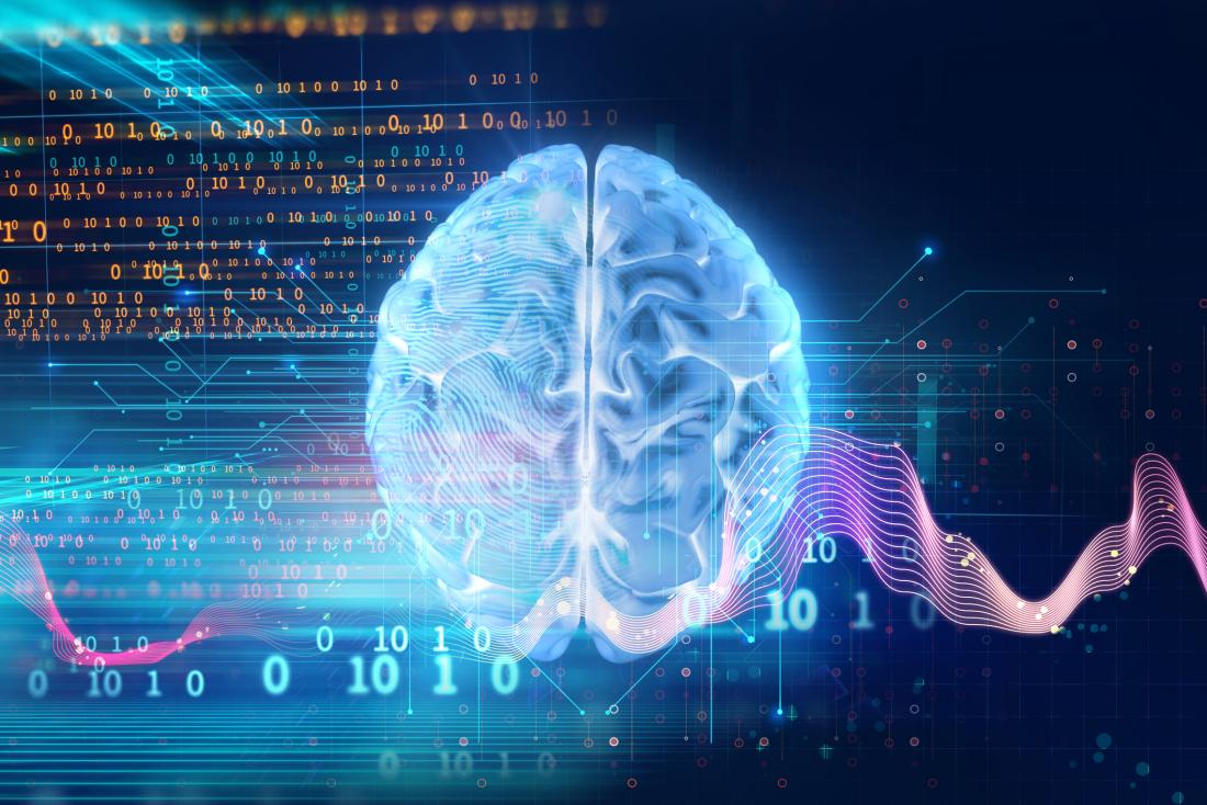 brain activity concept illustration