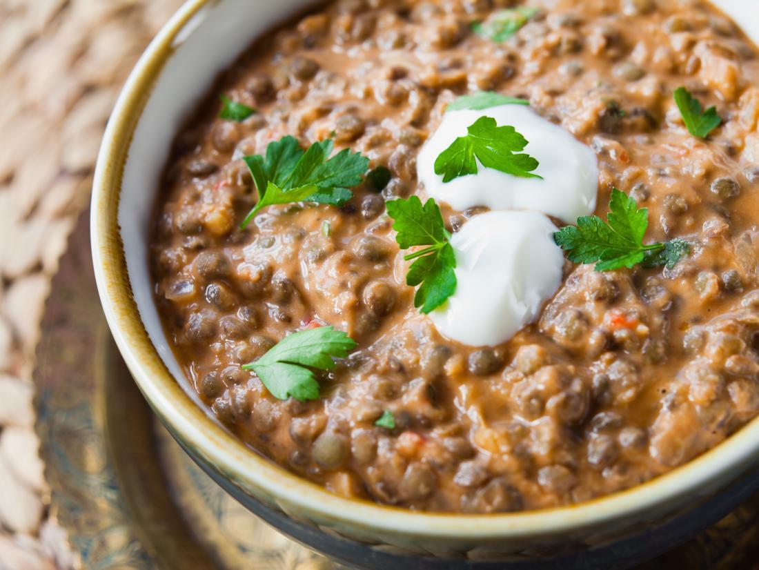 Crockpot sweet potato lentils
