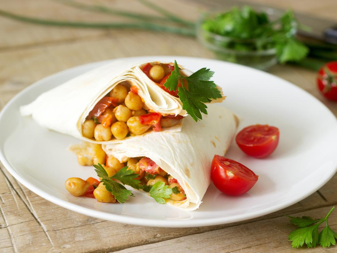 Gluten-free vegan wraps