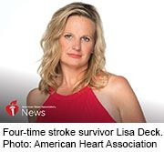 News Picture: AHA News: After 4 Strokes, Rare Disease and Brain Surgery, Woman Helps Others