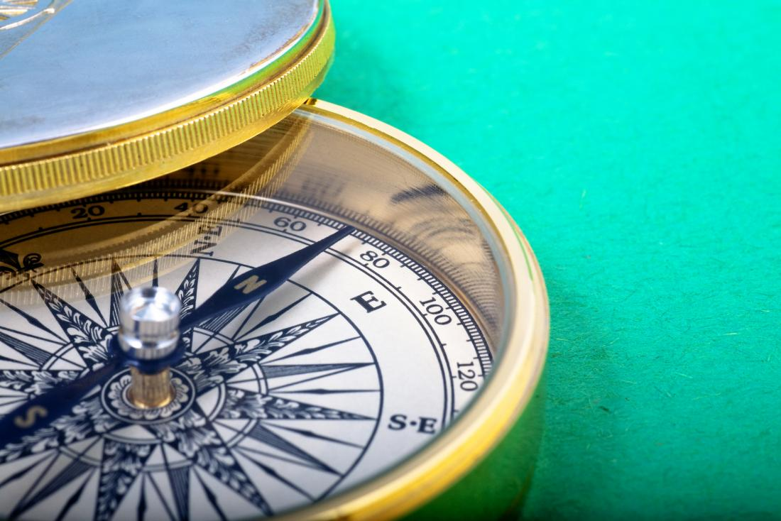 Close up of compass