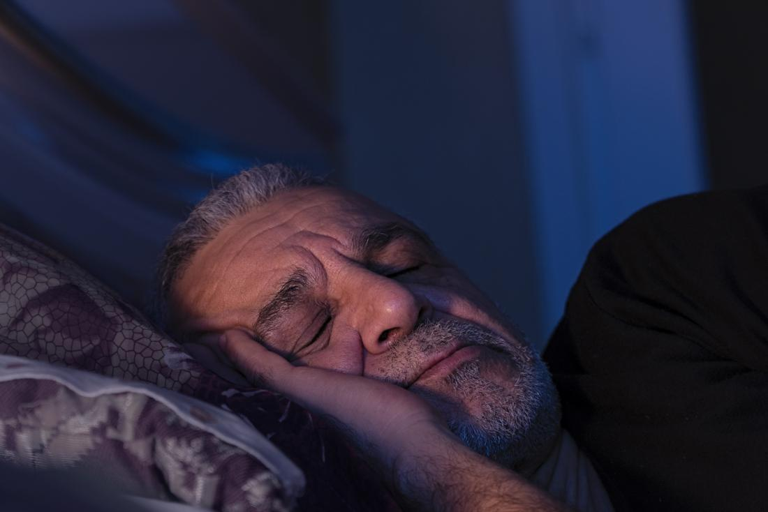 Older man asleep