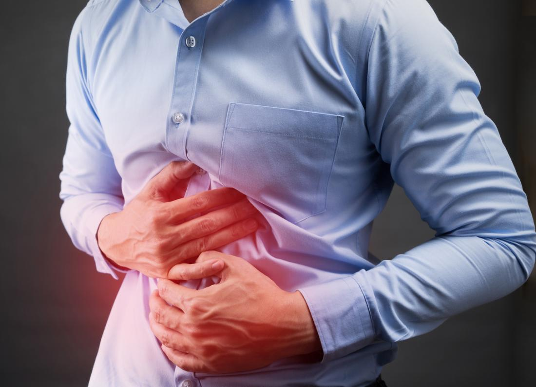 man with ibd in pain