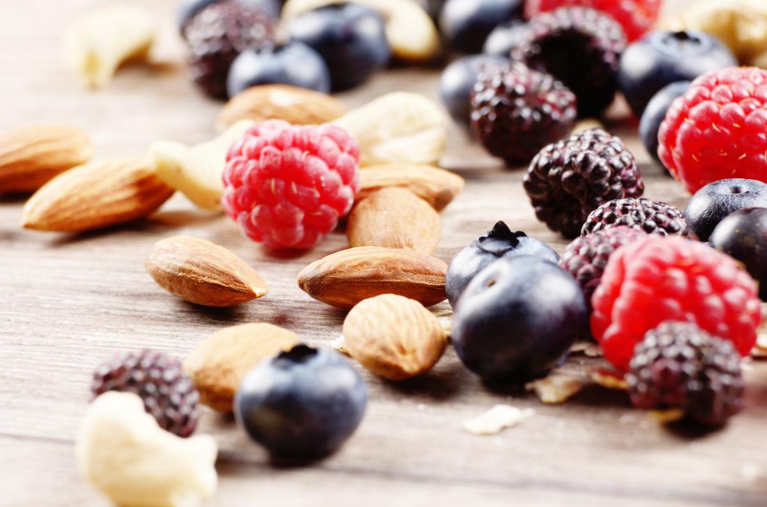 nutrient dense foods including nuts and berries