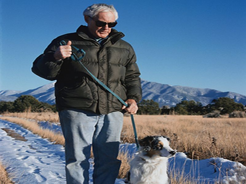 News Picture: Pooch Peril: More Elderly Are Fracturing Bones While Dog Walking