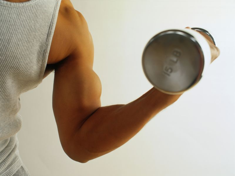 News Picture: Tone Your Upper Arms With These Effective Bicep Curls