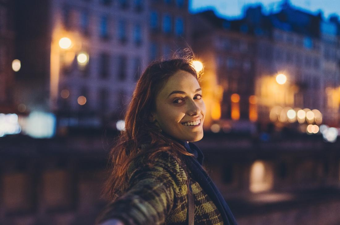 Woman out at night with possible mania or hypomania