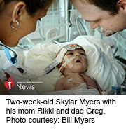 News Picture: AHA News: Couple Kept the Faith as Baby Neared Death -- and Then a Transplant Saved Him