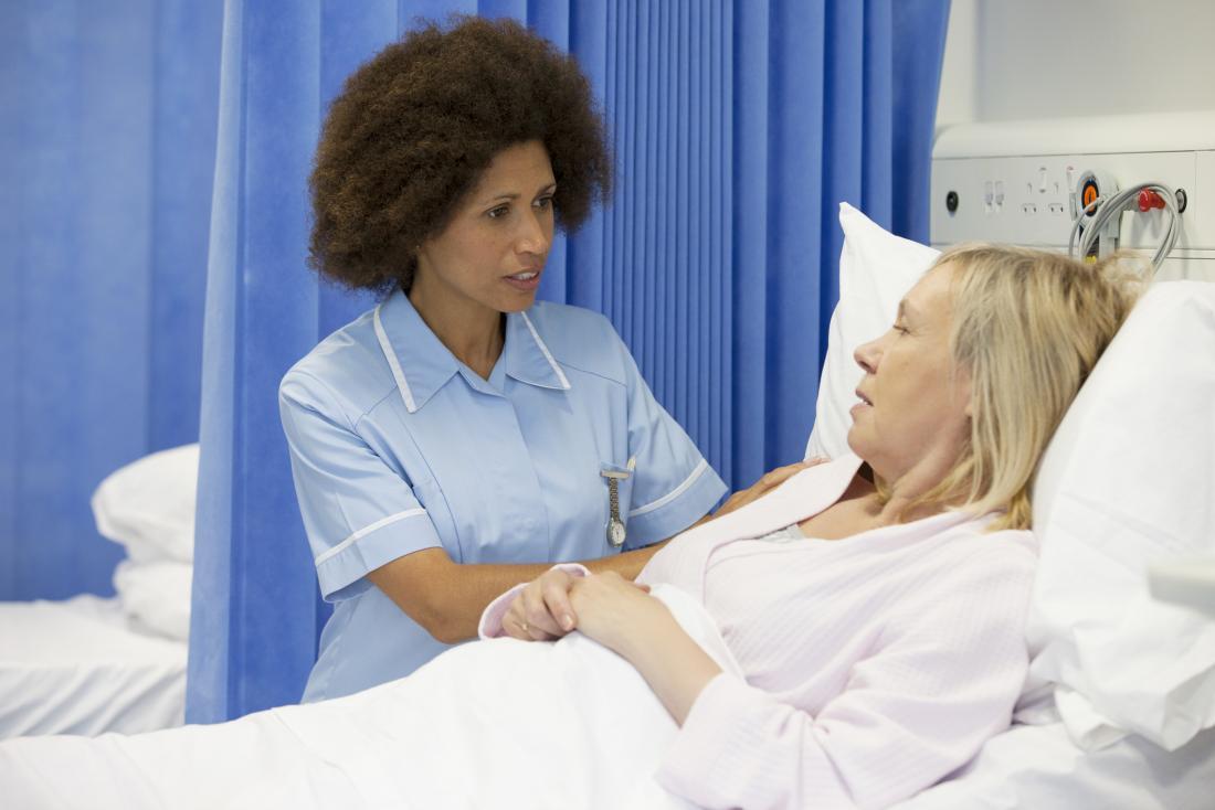 nurse speaking to inpatient