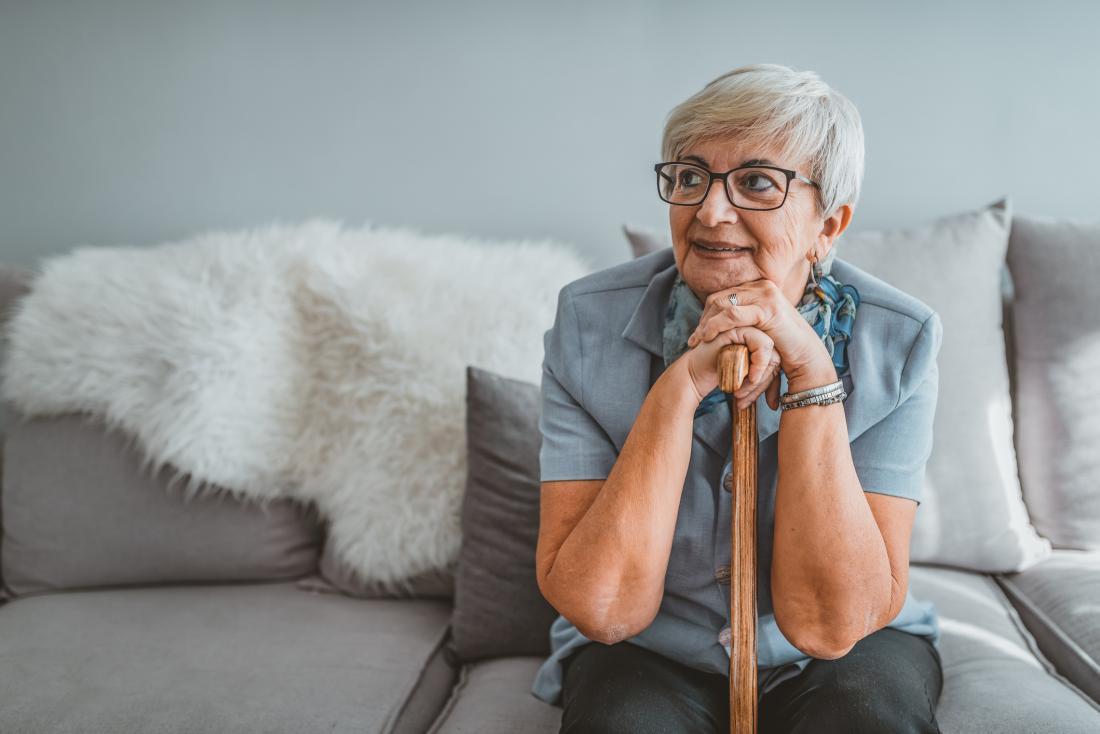 senior woman looking melancholy