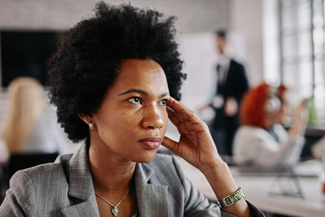 woman appearing stressed