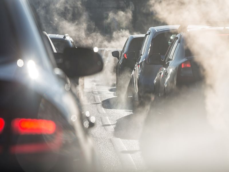 News Picture: Vehicle Exhaust Drives Millions of New Asthma Cases Annually