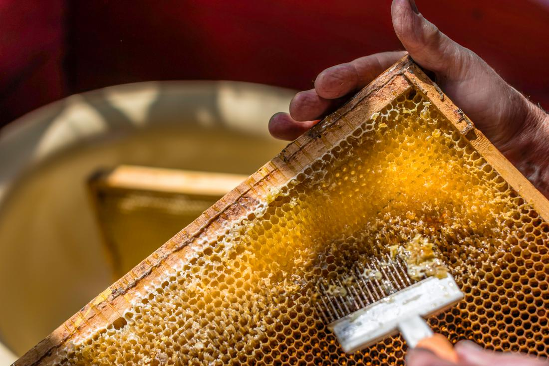 Raw honey is not filtered or pasteurized.