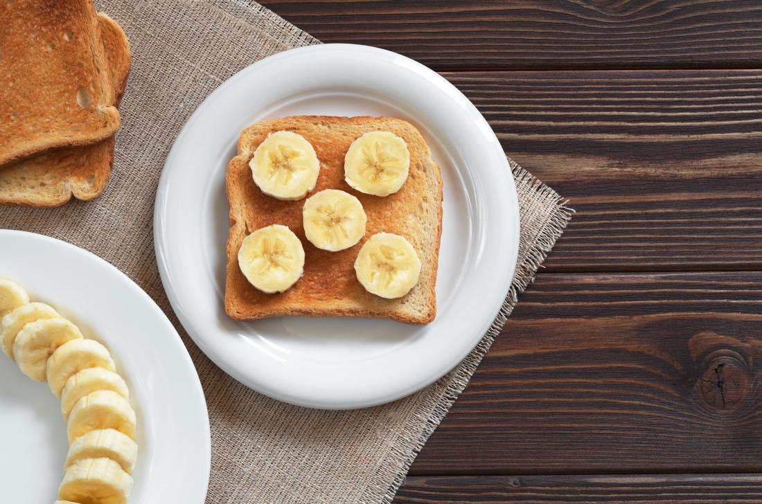 Bananas and toast can help prevent electrolyte loss.